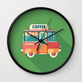 Coffee Van Wall Clock