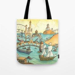 Ship City Tote Bag