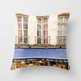Paris Boulangerie Throw Pillow