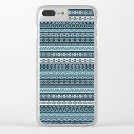 Modern Native Navajo Ethnic Tribal V.02 - Graphite Color Clear iPhone Case