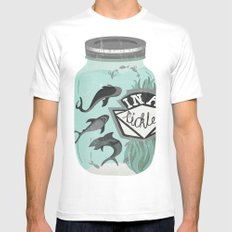 IN A PICKLE Mens Fitted Tee White MEDIUM