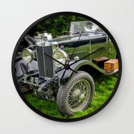 Classic Britsh MG Wall Clock