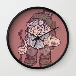 The Hairy Hermit Wall Clock