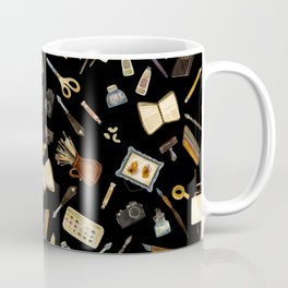 Creative Artist Tools - Watercolor on Black Coffee Mug