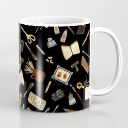 Creative Artist Tools - Watercolor on Black Coffee Mug