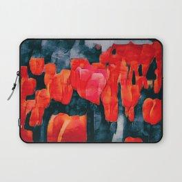 Tulip Field at Night Laptop Sleeve