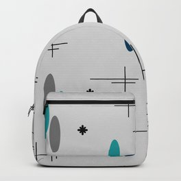 Ovals and Starbursts Teal Backpack