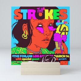 the strokes los angeles tour 2020 baukentut Mini Art Print