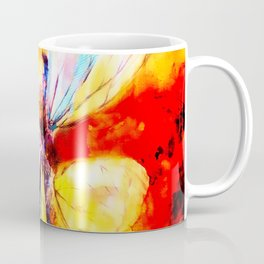 Butterfly Art Abstract Design Coffee Mug