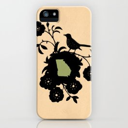 Georgia - State Papercut Print iPhone Case