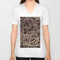 metallic V-neck T-shirts featuring Metallic by Norms