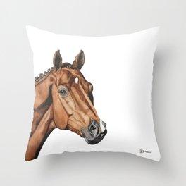 Vivaldi - KWPN Horse   DEAU Throw Pillow