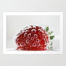Bubble Strawberry Art Print