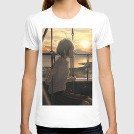 Beautiful Anime Girl Sunset T-shirt