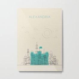 Colorful Skylines: Alexandria, Egypt Metal Print