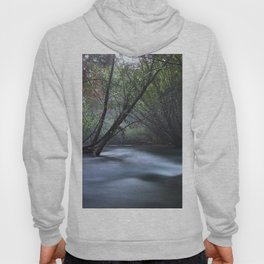 Silver River. Foggy Night at the mountains Hoody