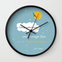 tolkien Wall Clocks featuring Even the smallest person - quote by Tolkien by Dickens ink.