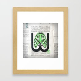 Type Human W Framed Art Print