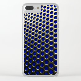 Stainless Steel Circles with Blue Clear iPhone Case