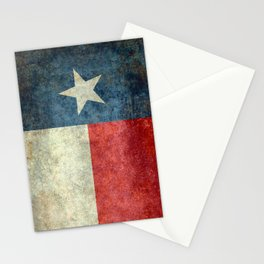 Texas flag, Retro style Vertical Banner Stationery Cards