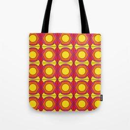 Retro Geometric Circus  Tote Bag