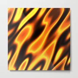 Element Fire Flame Hot Metal Print