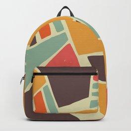 Broken color marble tiles Backpack