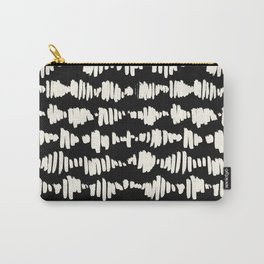 Tribal Song Cream on Black Carry-All Pouch