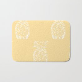 Petite Pineapple yellow Bath Mat