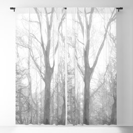 Black and White Forest Illustration Blackout Curtain