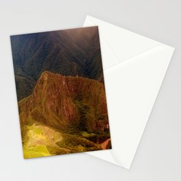 THE MACHU PICCHU VALLEY- PANORAMIC VIEW Stationery Cards