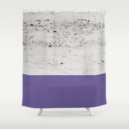 Ultra Violet on Concrete #3 #decor #art #society6 Shower Curtain