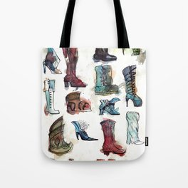 Boots of the World Tote Bag