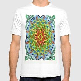 Fire Renewal Mandala Celtic Knot Mandala Art T-shirt