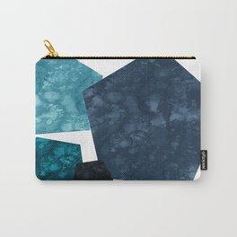 Pentagon shape | Geometric Blue | Abstract art | Texture Art | Modern Blue Carry-All Pouch