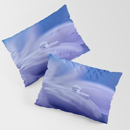 Blue Flower Blossom Nature Macro Photography Pillow Sham
