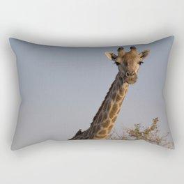 Giraffe and Oxpecker Rectangular Pillow