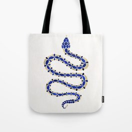 Navy & Gold Serpent Tote Bag