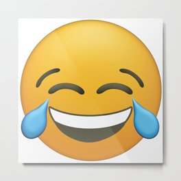 Happy, Funny, Smiling, Crying Emoji Metal Print