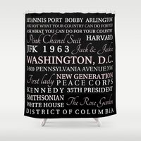 jfk Shower Curtains featuring JFK  by Steph Snyder