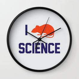I heart Science (Sarcasm version) Wall Clock