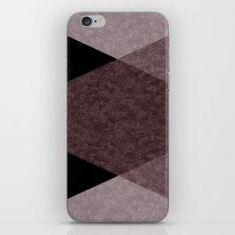 Black and brown marble iPhone Skin