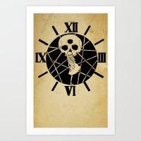 she and skull Art Print