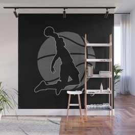 Basketball Player (monochrome) Wall Mural