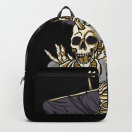 Ghost Skull Pirate Ship Backpack