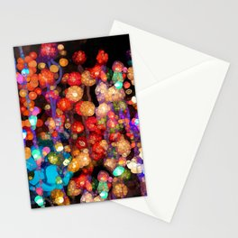 Trippy Floral Stationery Cards