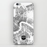 new orleans iPhone & iPod Skins featuring NEW ORLEANS by Maps Factory