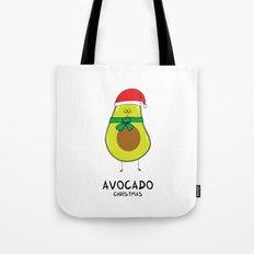 Avocado Christmas Tote Bag