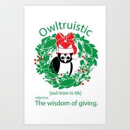 owltruistic Art Print