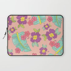 tropical flowers Laptop Sleeve